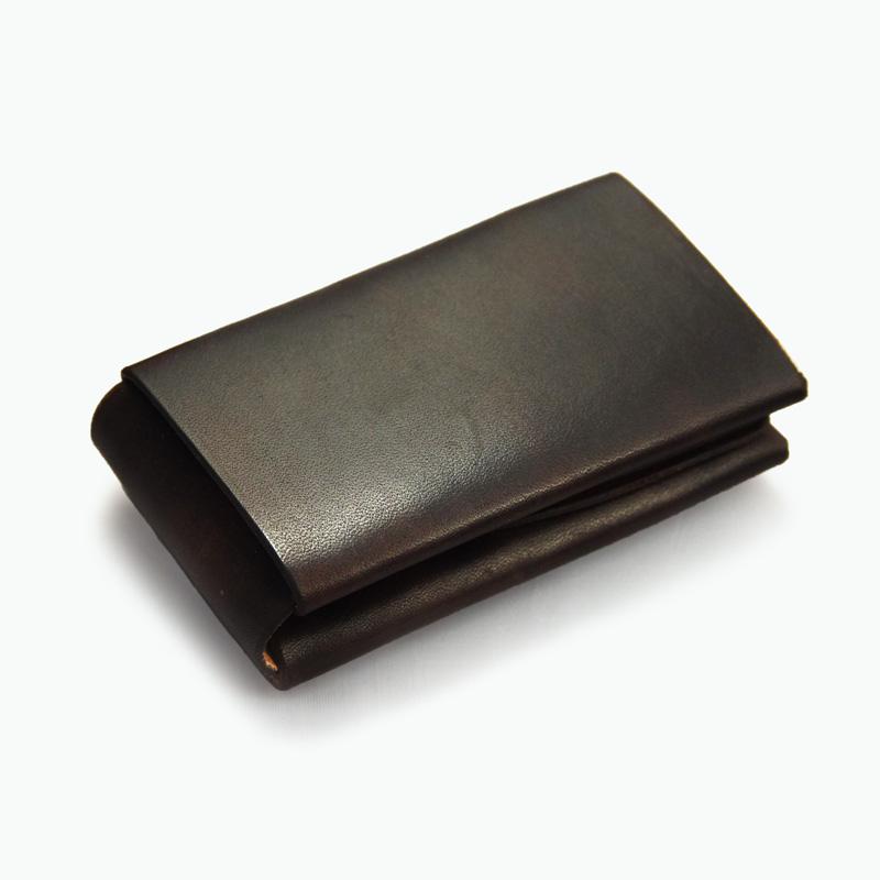 ミニマルカードケース ブラウン - Brown Minimal Card Case