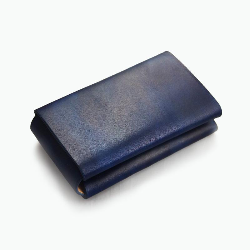 ミニマルカードケース ネイビー – Navy Minimal Card Case
