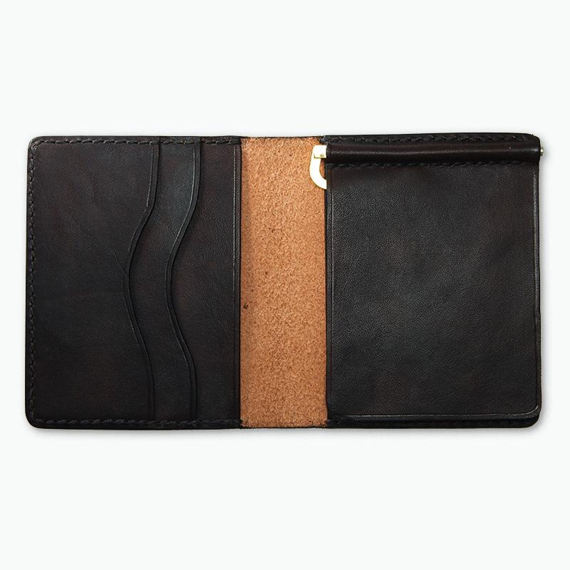 マネークリップウォレット ブラウン - Brown Money Clip Wallet