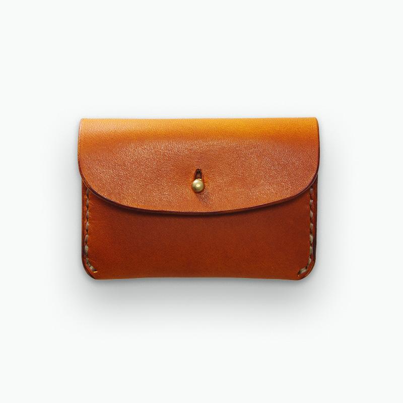 レザーコインケース タン - Tan Coin Case