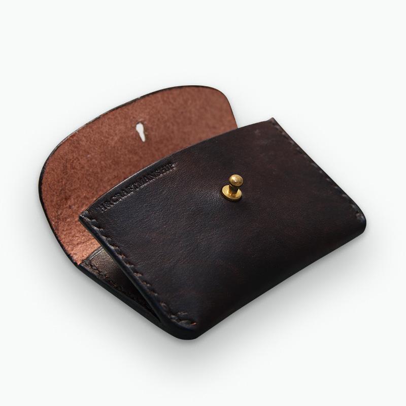 レザーコインケース ブラウン - Brown Coin Case