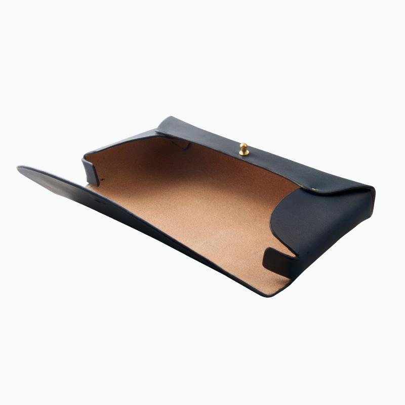レザーペンケース ネイビー – Leather Pen Case