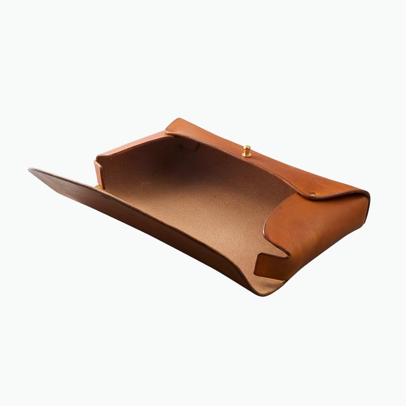 レザーペンケース タン – Leather Pen Case