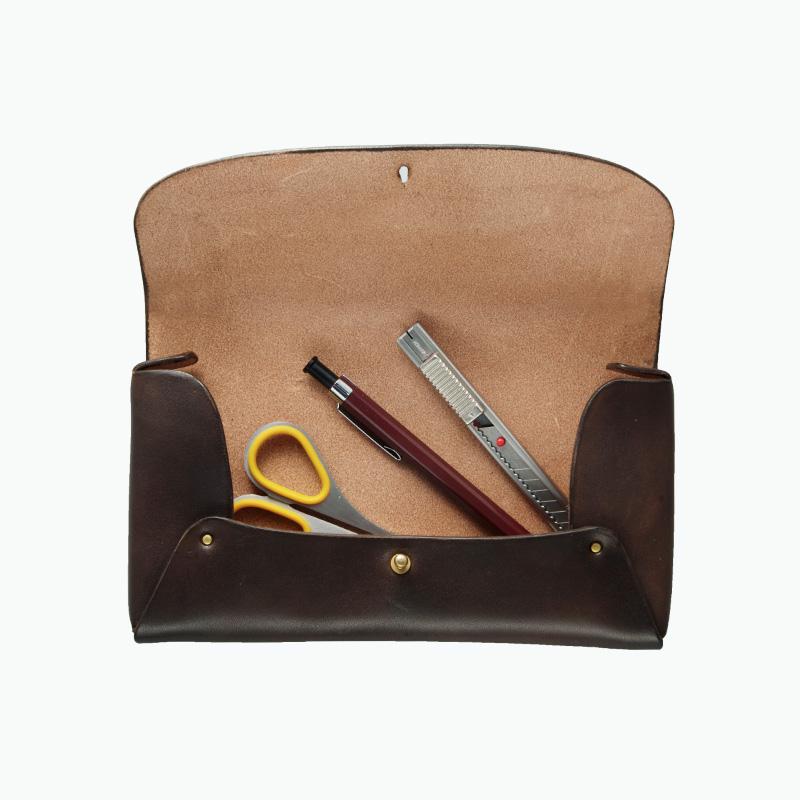 レザーペンケース 内部 – Leather Pen Case