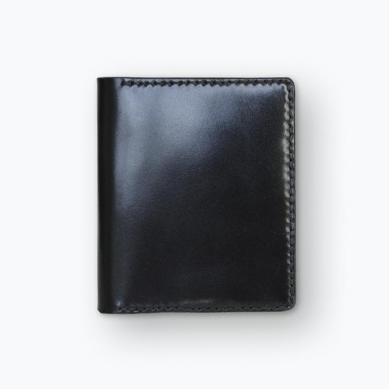 新喜皮革コードバン マネークリップウォレット ブラック – Shinki Cordovan Black Money Clip Wallet