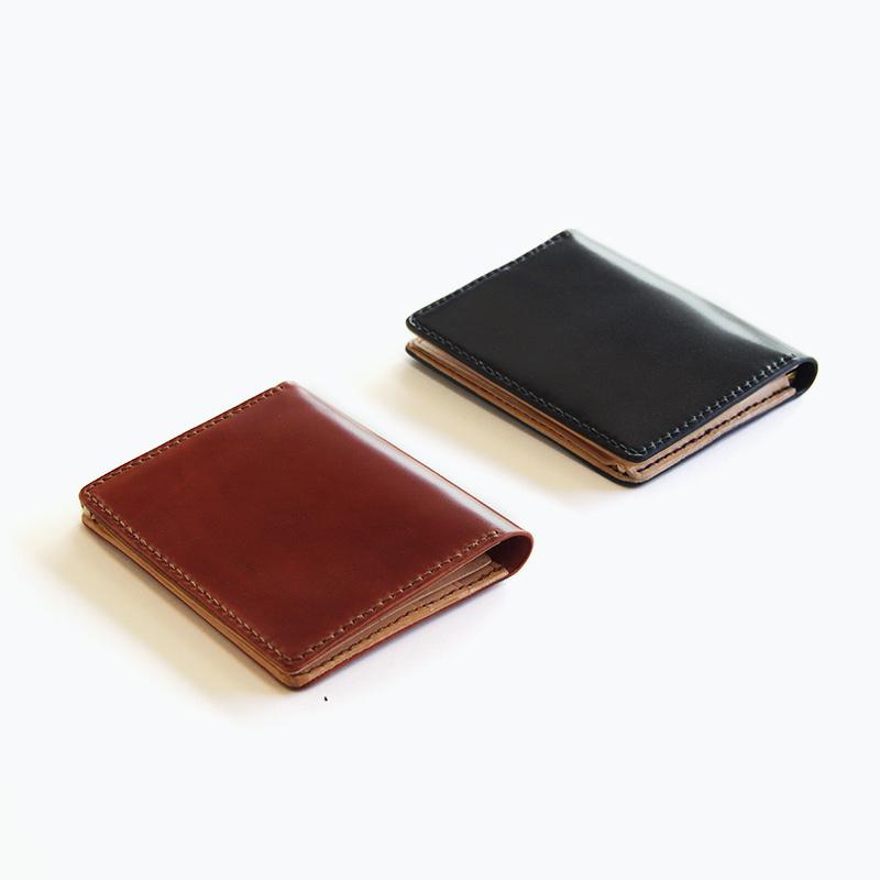 新喜皮革コードバン マネークリップウォレット – Shinki Cordovan Money Clip Wallet