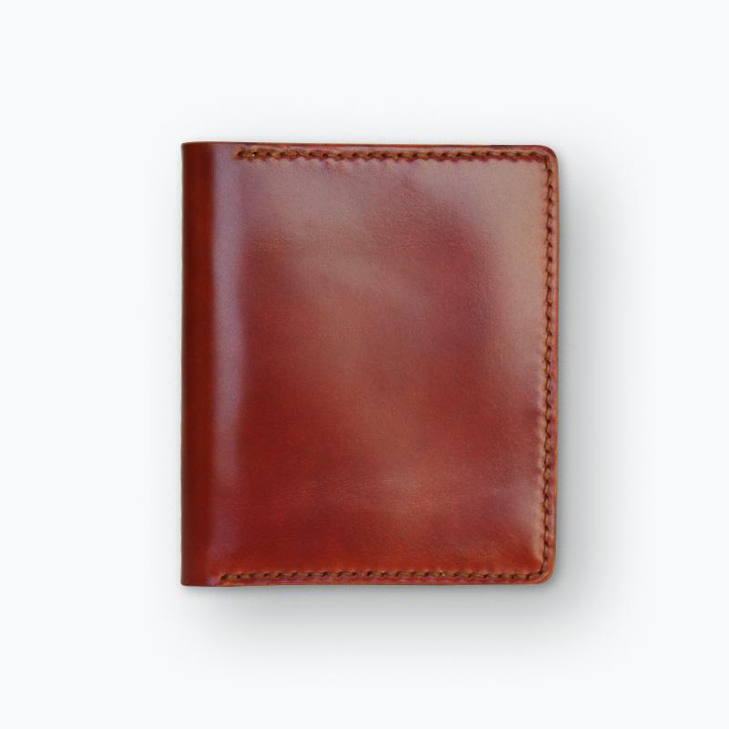 新喜皮革コードバン マネークリップウォレット ブラウン – Shinki Cordovan Brown Money Clip Wallet