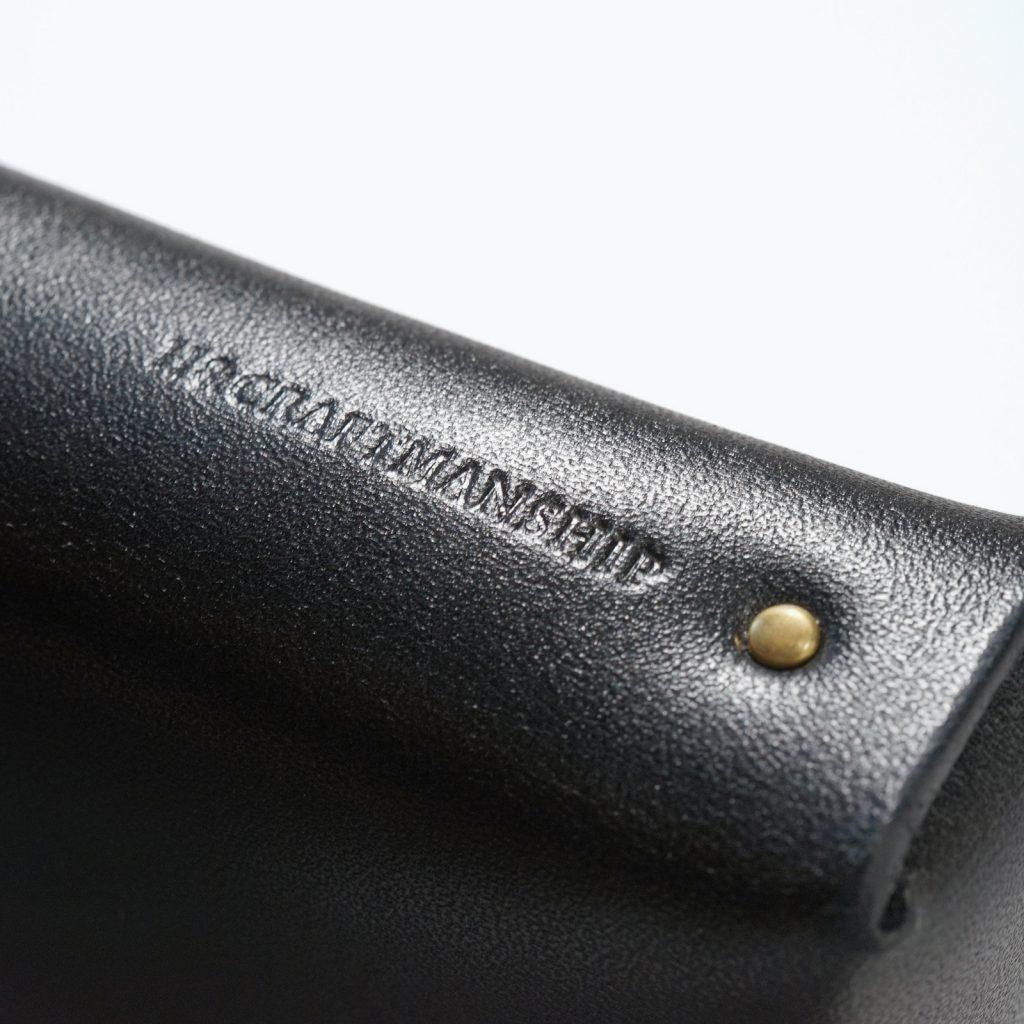 レザーペンケース|柿渋染め|刻印